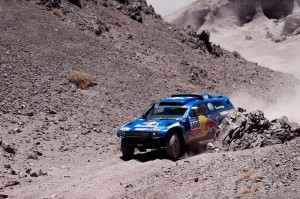 Carlos Sainz (driver) and Lucas Cruz (co-driver)  in action during the 4th stage of  Dakar Rally between Jujuy (Argentina) and Calama (Chile) on january 5th, 2011