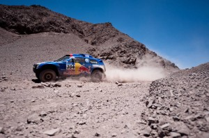 Mark Miller (driver) and Ralph Pitchford (co-driver)  in action during the 4th stage of  Dakar Rally between Jujuy (Argentina) and Calama (Chile) on january 5th, 2011