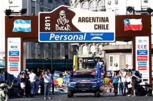 DAKAR ARGENTINA CHILE 2011 - CEREMONIE DE DEPART / START CEREMONY / STAGE 1 : BUENOS AIRES (ARG) / VICTORIA (ARG) - 01/01/11 - PHOTO : FREDERIC LE FLOC H / DPPI